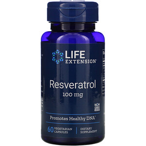 Лайф Экстэншн, Resveratrol, 100 mg, 60 Vegetarian Capsules отзывы