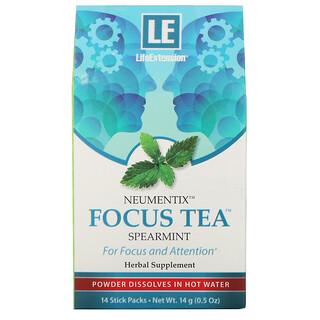 Life Extension, Neumentix, чай Focus с мятой, 14 пакетиков