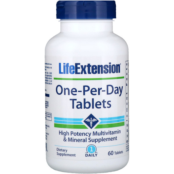 Life Extension, One-Per-Day片剂,60片 (Discontinued Item)