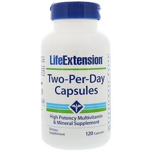 Life Extension, Капсулы Дважды-в-день, 120 капсул инструкция, применение, состав, противопоказания