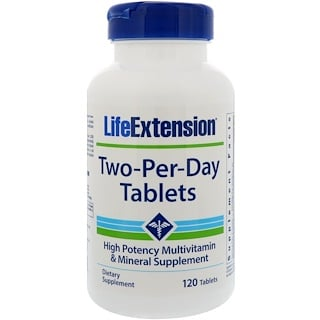 Life Extension, Two-Per-Day片劑,120片