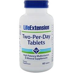 Life Extension, Таблетки Two-Per-Day, 60 таблеток