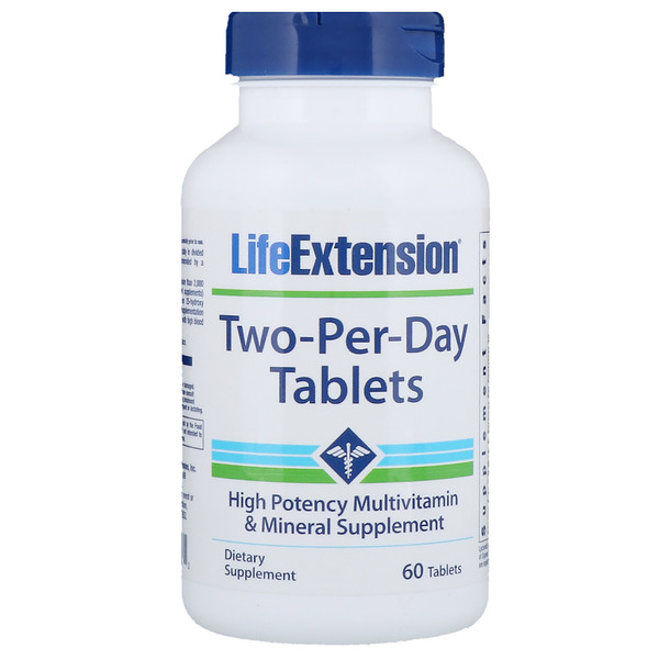 Life Extension, Two-Per-Day片剂,60片 (Discontinued Item)