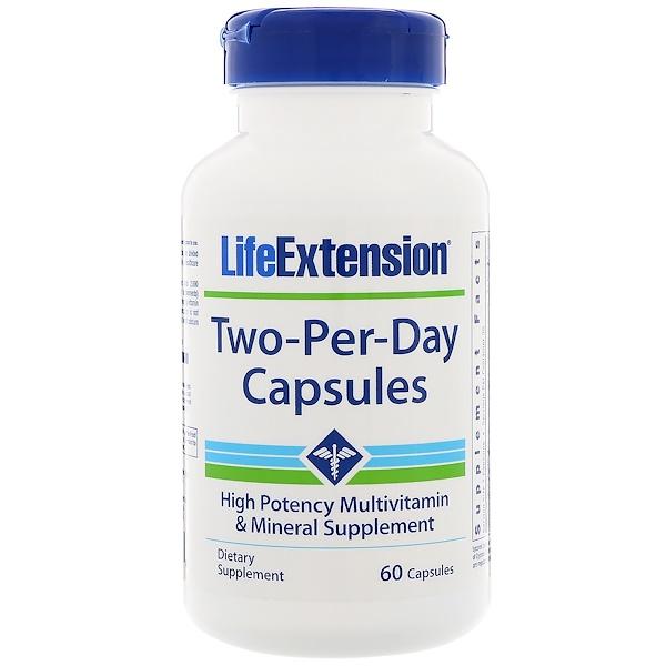 Life Extension, 每天两粒胶囊,60 粒 (Discontinued Item)