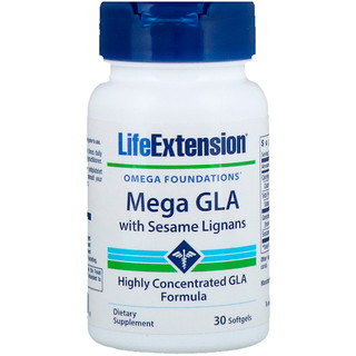 Life Extension, Mega GLA with Sesame Lignans, 30 Softgels