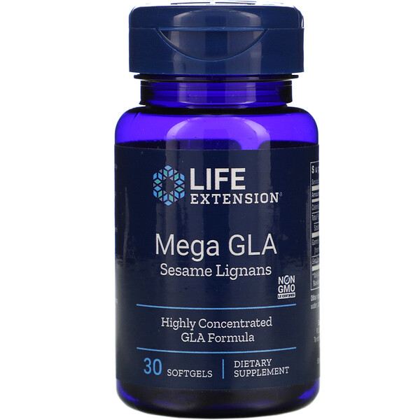 Life Extension, Mega GLA Sesame Lignans, 30 Softgels