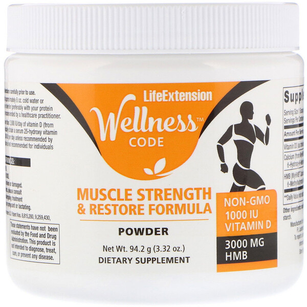 Life Extension, Wellness Code, Muscle Strength & Restore Formula, 3.32 oz (94.2 g)