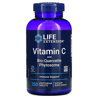 Life Extension, Vitamin C and Bio-Quercetin Phytosome, 250 Vegetarian Tablets