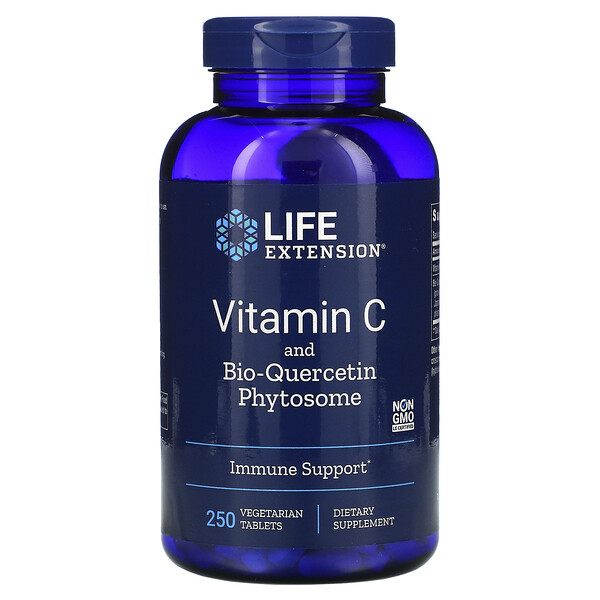 Vitamin C and Bio-Quercetin Phytosome, 250 Vegetarian Tablets