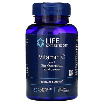 Life Extension ВитаминC с фитосомами биокверцетина, 60вегетарианских таблеток  - купить со скидкой