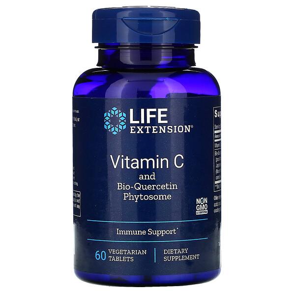 Vitamin C and Bio-Quercetin Phytosome, 60 Vegetarian Tablets