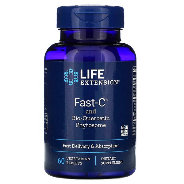 Fast-C and Bio-Quercetin Phytosome, 60 Vegetarian Tablets