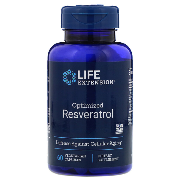 Life Extension, Resveratrol optimizado, 60 cápsulas vegetarianas