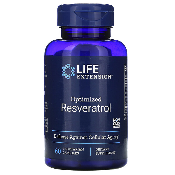 Life Extension, Optimized Resveratrol, 60 Vegetarian Capsules