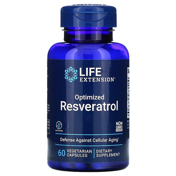 Life Extension, Resveratrol optimizado, 60 cápsulas vegetales