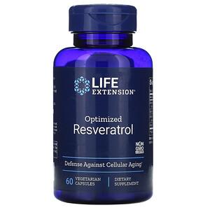 Лайф Экстэншн, Optimized Resveratrol, 60 Vegetarian Capsules отзывы покупателей