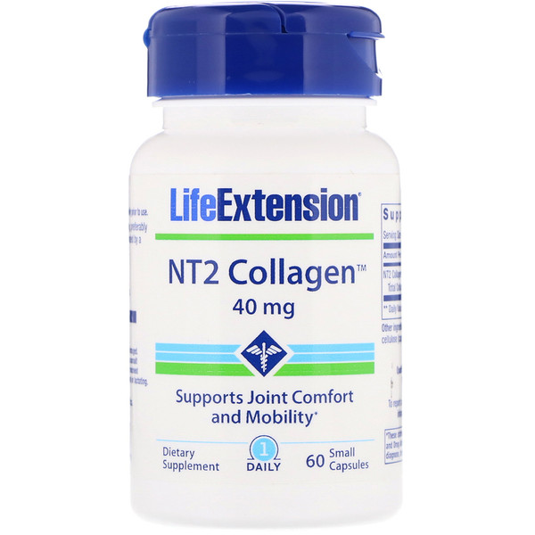 Life Extension, Collagène NT2, 40 mg, 60 comprimés