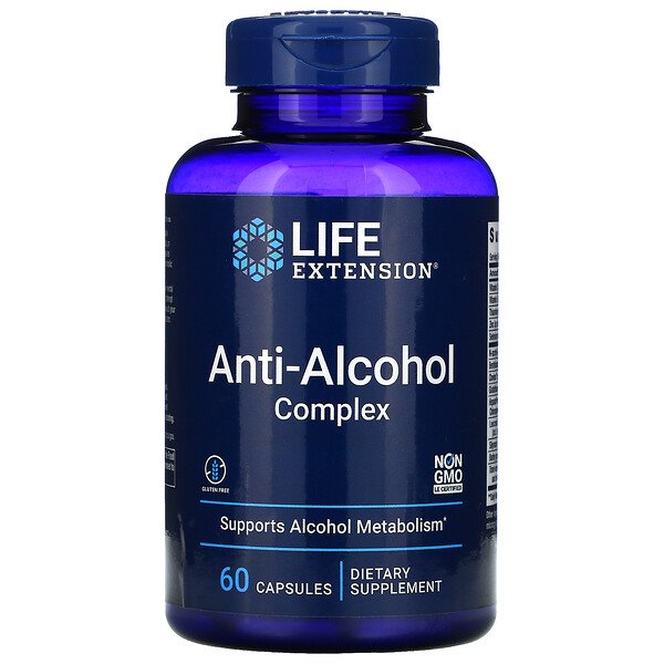 Anti-Alcohol Complex, 60 Capsules