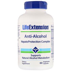 Лайф Экстэншн, Anti-Alcohol, HepatoProtection Complex, 60 Vegetarian Capsules отзывы