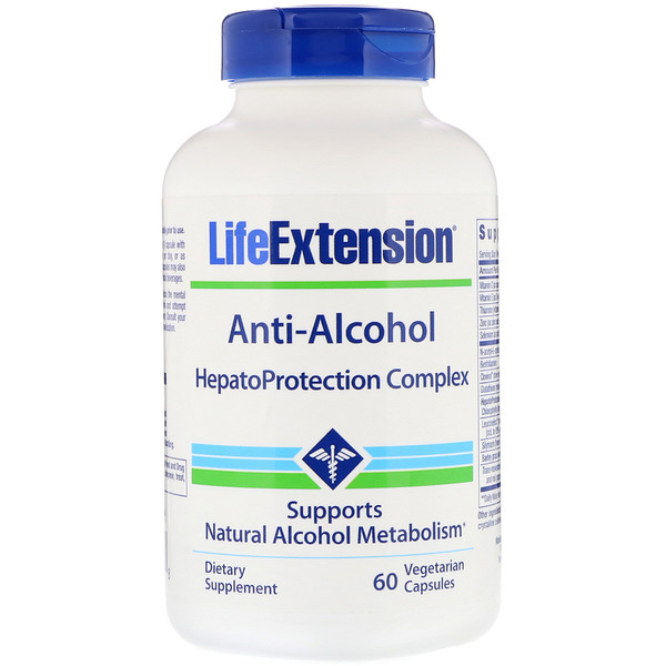 Life Extension, Anti-Alcohol, HepatoProtection Complex, 60 Vegetarian Capsules (Discontinued Item)