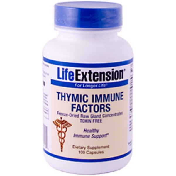 Life Extension, Thymic Immune Factors, 100 Capsules (Discontinued Item)
