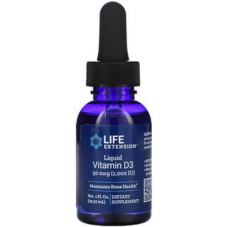 Life Extension, Liquid Vitamin D3, 50 mcg (2,000 IU), 1 fl oz (29.57 ml)