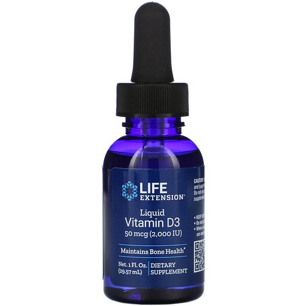 Liquid Vitamin D3, 2,000 IU, 1 fl oz (29.57 ml)