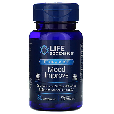 Life Extension FLORASSIST Mood Improve, 30 Capsules  - купить со скидкой