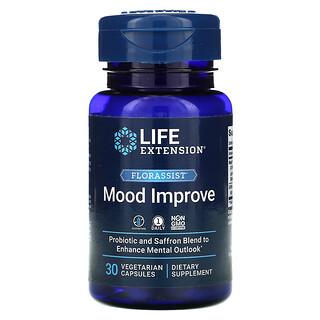Life Extension, FLORASSIST, комплекс для улучшение настроения, 30вегетарианских капсул