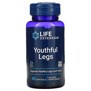 Life Extension, Youthful Legs , 60 Softgels