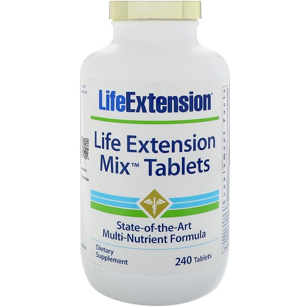 Life Extension, Comprimés Mix, 240 comprimés