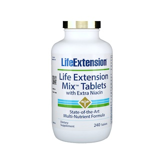 Life Extension, Mix Tablets with Extra Niacin, 240 Tablets