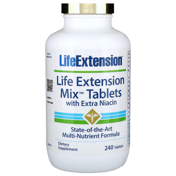 Life Extension, Смешанные таблетки с экстра ниацином, 240 таблеток (Discontinued Item)
