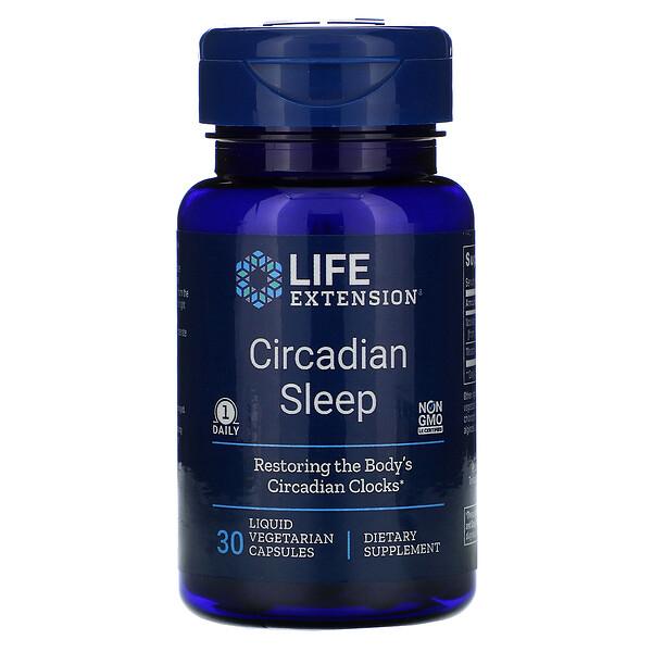 Life Extension, Sueño circadiano, 30cápsulas vegetarianas líquidas