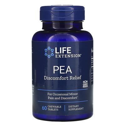 Купить Life Extension ПЭА для облегчения дискомфорта, 60жевательных таблеток