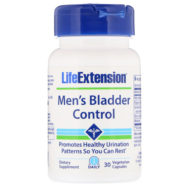 Life Extension, Men's Bladder Control, 30 Vegetarian Capsules