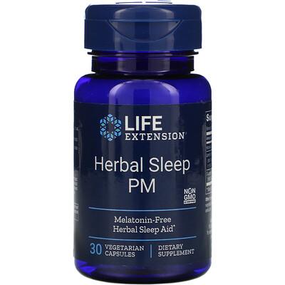 Купить Life Extension Herbal Sleep PM, 30вегетарианских капсул