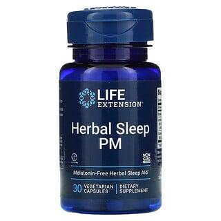Life Extension, 草本睡眠 PM,30 粒素膠囊
