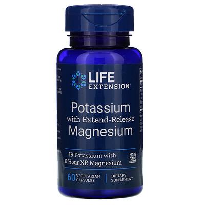Купить Life Extension Калий с магнием пролонгированного действия, 60вегетарианских капсул