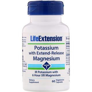 Life Extension, Potassium with Extend-Release Magnesium, 60 Vegetarian Capsules