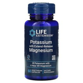Life Extension, Kalium und langwirkendes Magnesium, 60pflanzliche Kapseln