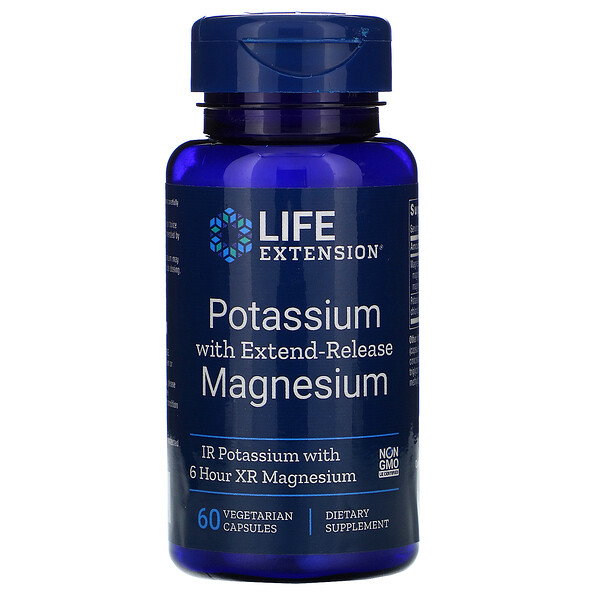 Potassium with Extend-Release Magnesium, 60 Vegetarian Capsules