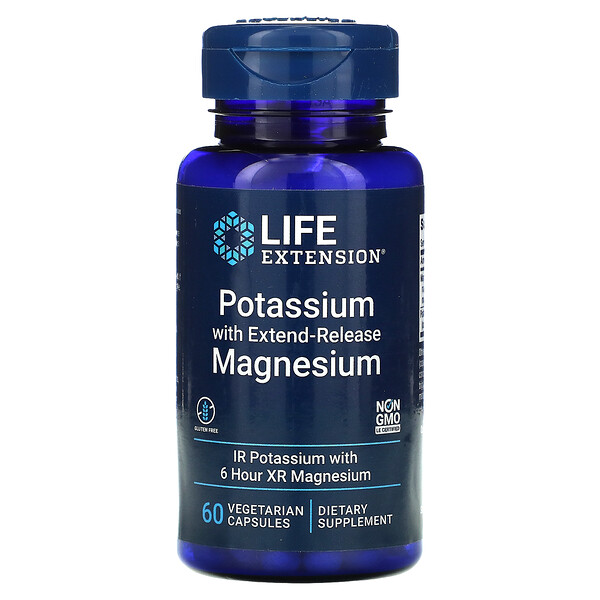 Life Extension, Potassium with Extend-Release Magnesium, 베지 캡슐 60정