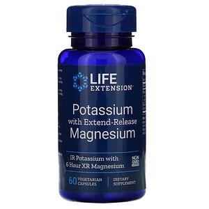 Лайф Экстэншн, Potassium with Extend-Release Magnesium, 60 Vegetarian Capsules отзывы покупателей