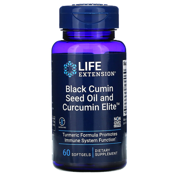 Black Cumin Seed Oil and Curcumin Elite , 60 Softgels