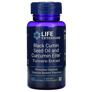 Лайф Экстэншн, Black Cumin Seed Oil and Curcumin Elite Turmeric Extract, 60 Softgels отзывы
