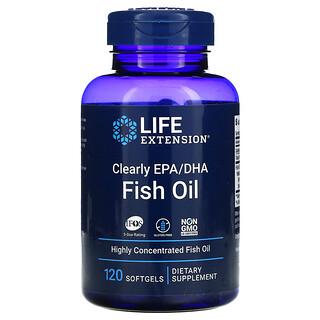Life Extension, 透明 EPA/DHA 魚油軟膠囊,120 粒裝