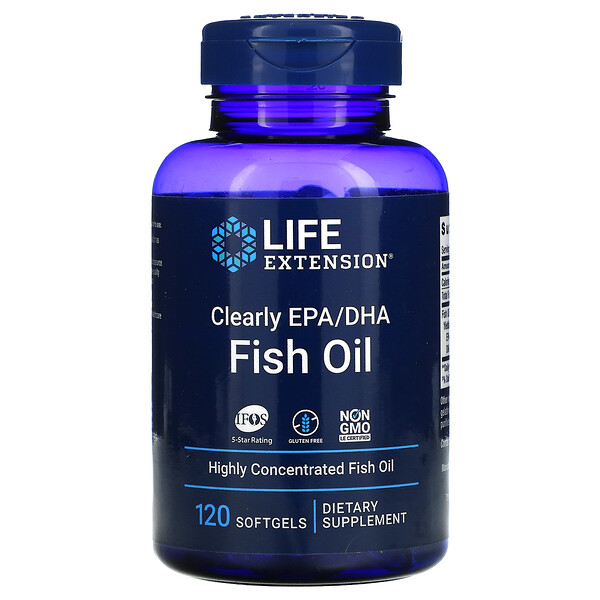 Clearly EPA/DHA Fish Oil, 120 Softgels