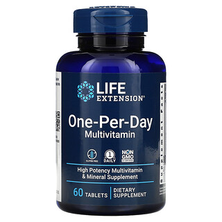 Life Extension, One-Per-Day Multivitamin, 60 Tablets