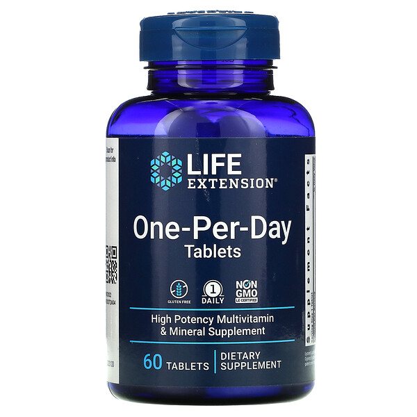 One-Per-Day Tablets, 60 Tablets